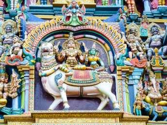 Détails de Gopuram de Madurai