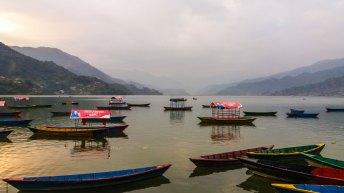 Lac de Phewa à Pokhara