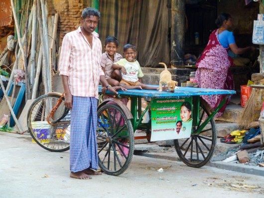 Famille indienne du quartier Tamoul