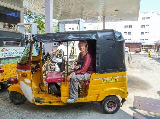Rickshow- le moyen de transport en Inde