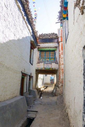 Une des rues de Lo Manthang dans le Haut Mustang au Nepal