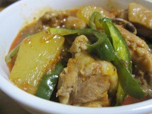 ハヤトウリと鶏肉の料理