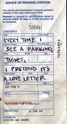 post secret parking ticket