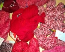 red yarns