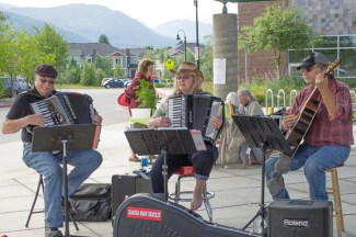 Alaska Main Squeeze played rollicking polka tunes, July 18th.