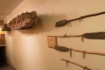 réplica de embarcação utilizada pelos mapuches