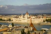 O Danúbio e o Parlamento, vistos do Castelo de Buda
