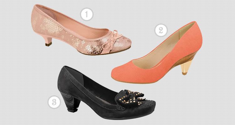 Exemplos de Sapatos: 1) Moleca; 2) Beira Rio; 3) Dakota. Foto: Reprodução.