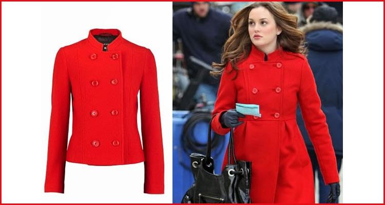 Foto: Reprodução. 1) Casaqueto de lã vermelho e 2) Casaco vermelho (que pode ser feito em lã também ou tweed).