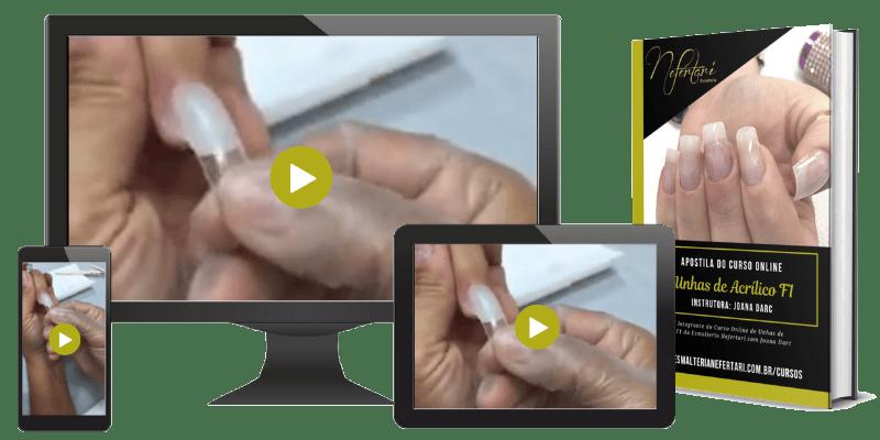 curso online de unhas de acrilico f1 com apostila