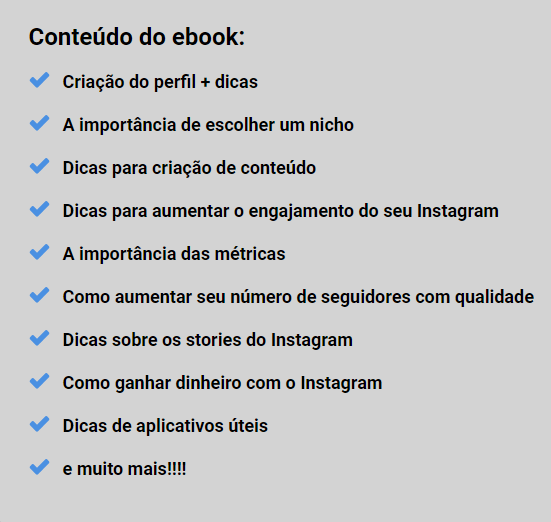 conteudo ebook instagram
