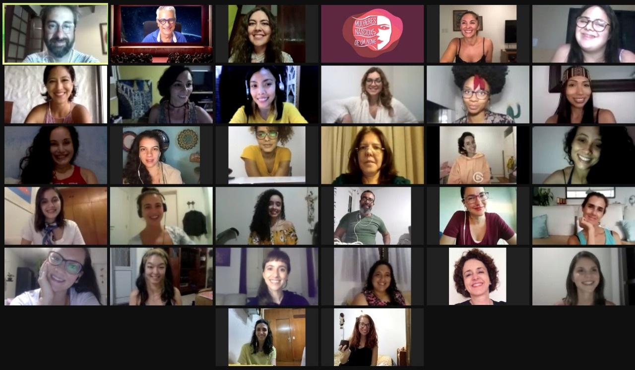 Espetáculo online reúne 28 atrizes de 11 países