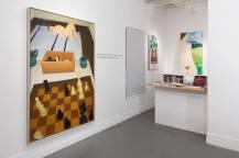 """Exposição """"Above the Clouds and Under the Radar,"""" pinturas de Regina Granne, em Abril de 2015, no antigo espaço da A.I.R."""