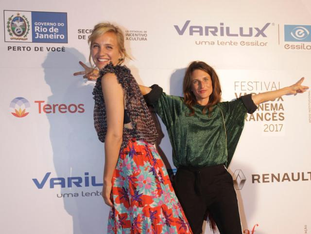 Noémie Saglio e Camille Cottin na abertura do Festival Varilux no Rio de Janeiro