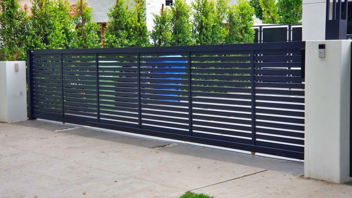 Specialty aluminum driveway gate