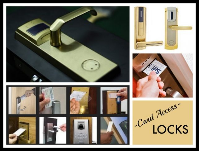 Types of card access locks