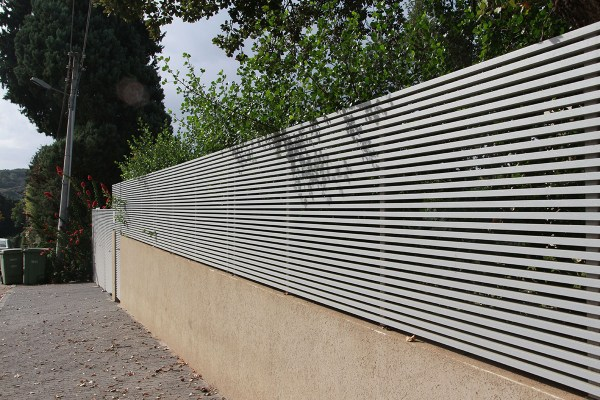 """the """"Hi-Tech"""", a variation of the semi-private Style of aluminum fence"""