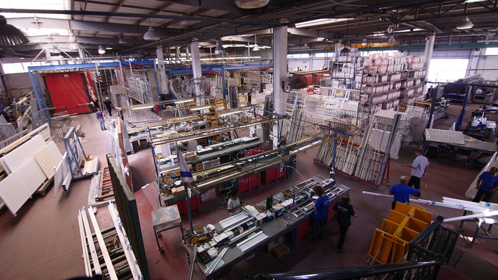Overhead view of manufacturing inside