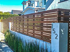 Wood front fence