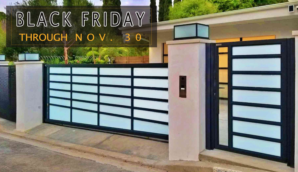 Black Friday Sale 2020 Glass Gates and Gate Operators Mulholland Brand