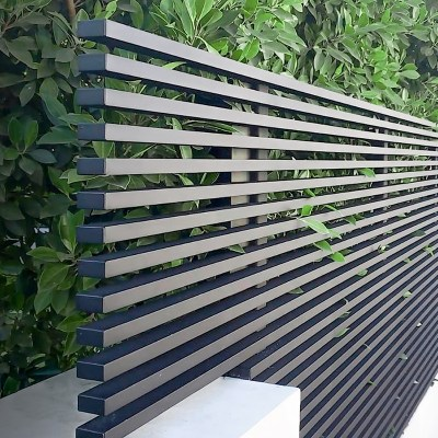 Modern hi-tech aluminum privacy fence