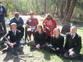 Uncle George and Kanyini with Avila students