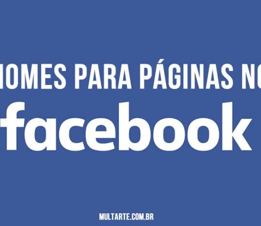 Nomes para páginas no Facebook