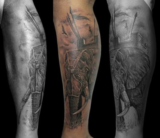 Tatuagens masculinas na perna