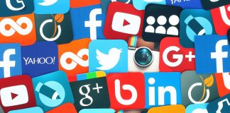 Ícones de redes sociais