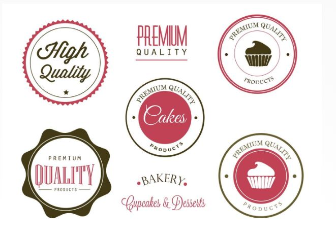 Etiquetas de padaria grátis e vetores de logotipo