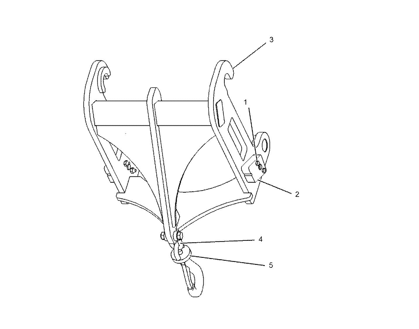 Telescopic Handler Lifting Hook Attachment