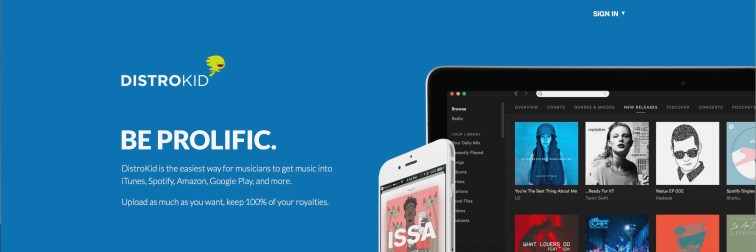 Sell your music online with distrokid