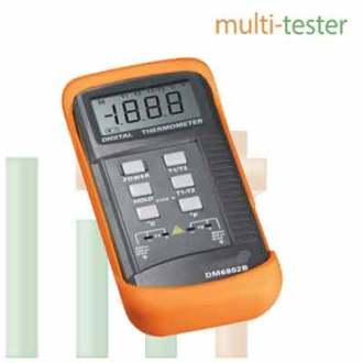 Pengukur Suhu Digital Thermometer (DUA K-TYPE) DM6802B