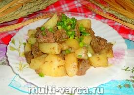 Тауық еті баяу пісіргіште картоп қосылған
