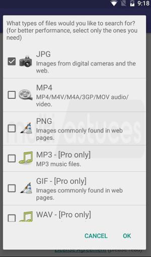 récupérer des fichiers supprimés sur le téléphone
