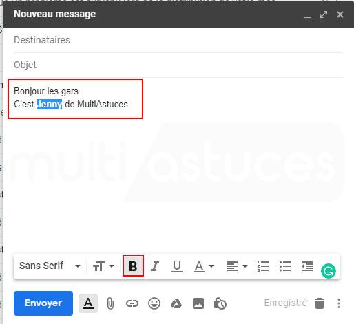 barré Gmail
