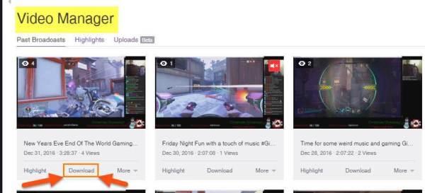 vidéos Twitch