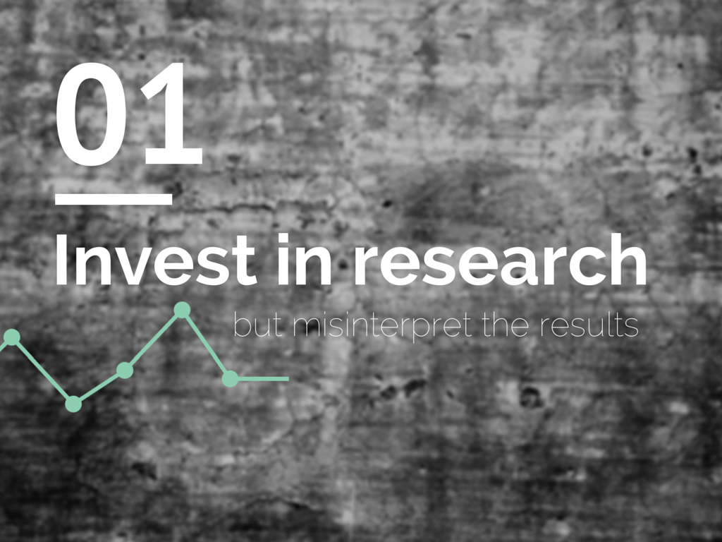 Invest in research but misinterpret the results