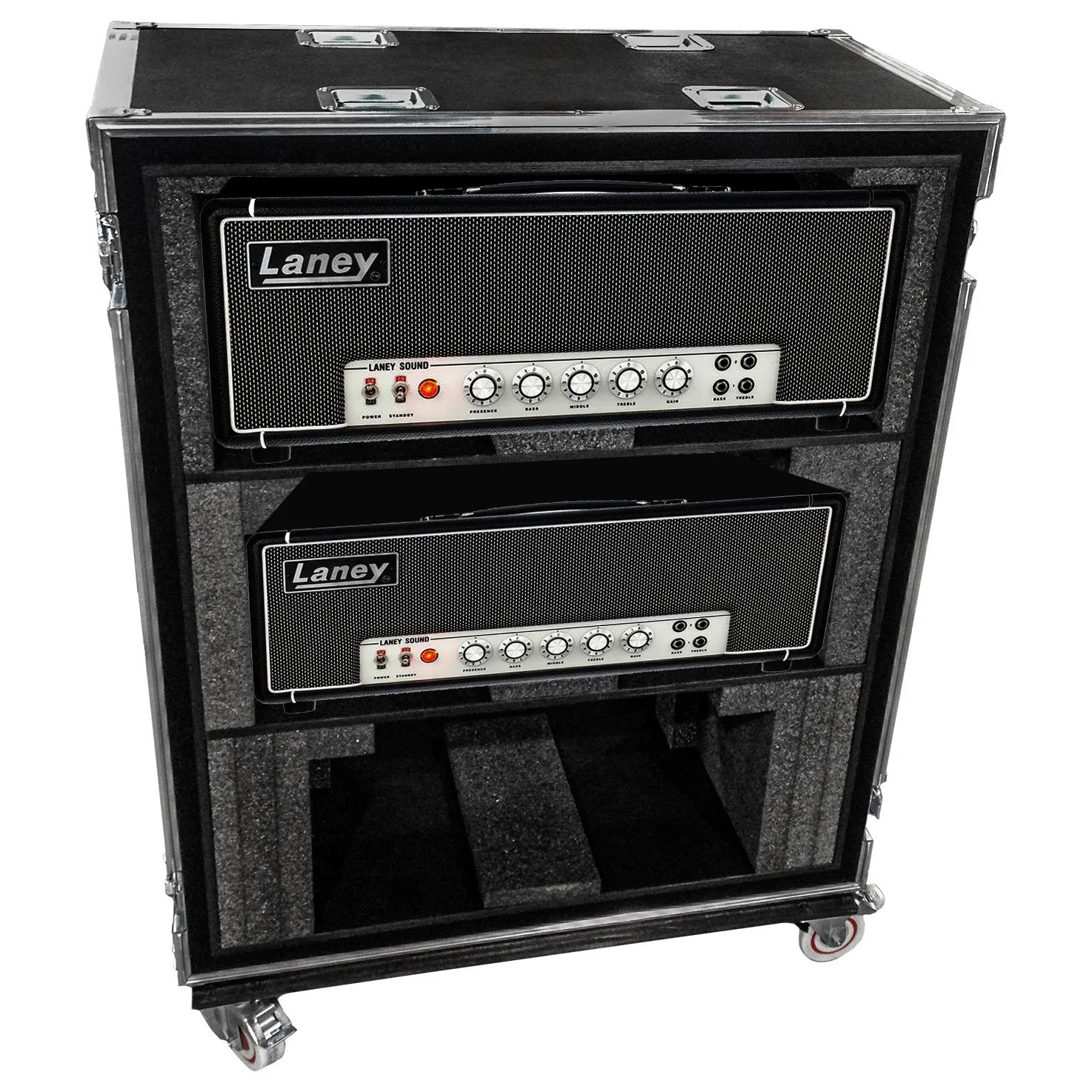 triple guitar head amp case multi caisses