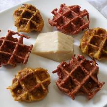 וופל ירקות שורש- קישור למתכון בבלוג ריח של בית