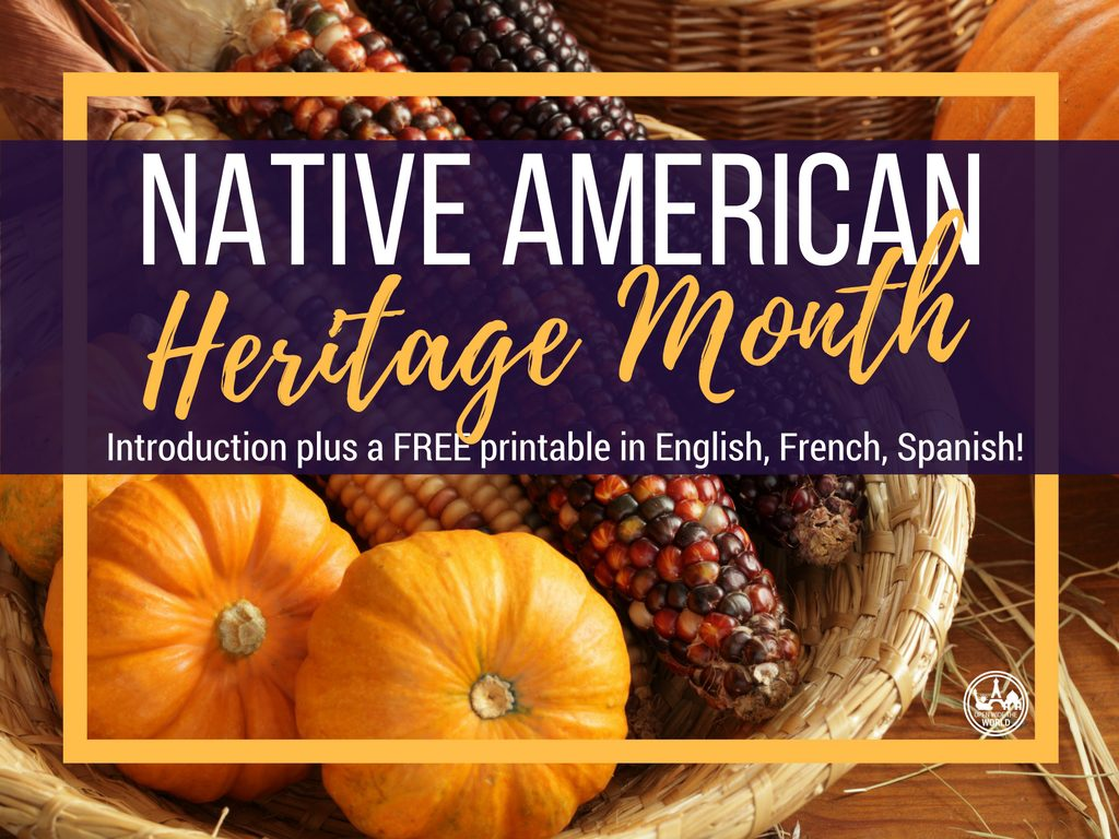Native American Heritage Month Free Trilingual Printable