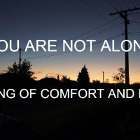 You Are Not Alone - A song of comfort and hope in this lockdown moment