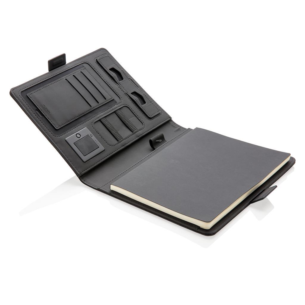 užrašų-knygelė-su-bevieliu-krovikliu-ir-logotipu-multidora