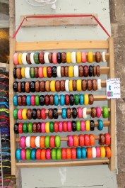 Wooden bangles or side-on Smarties?