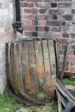 A barrel with sagging curves.