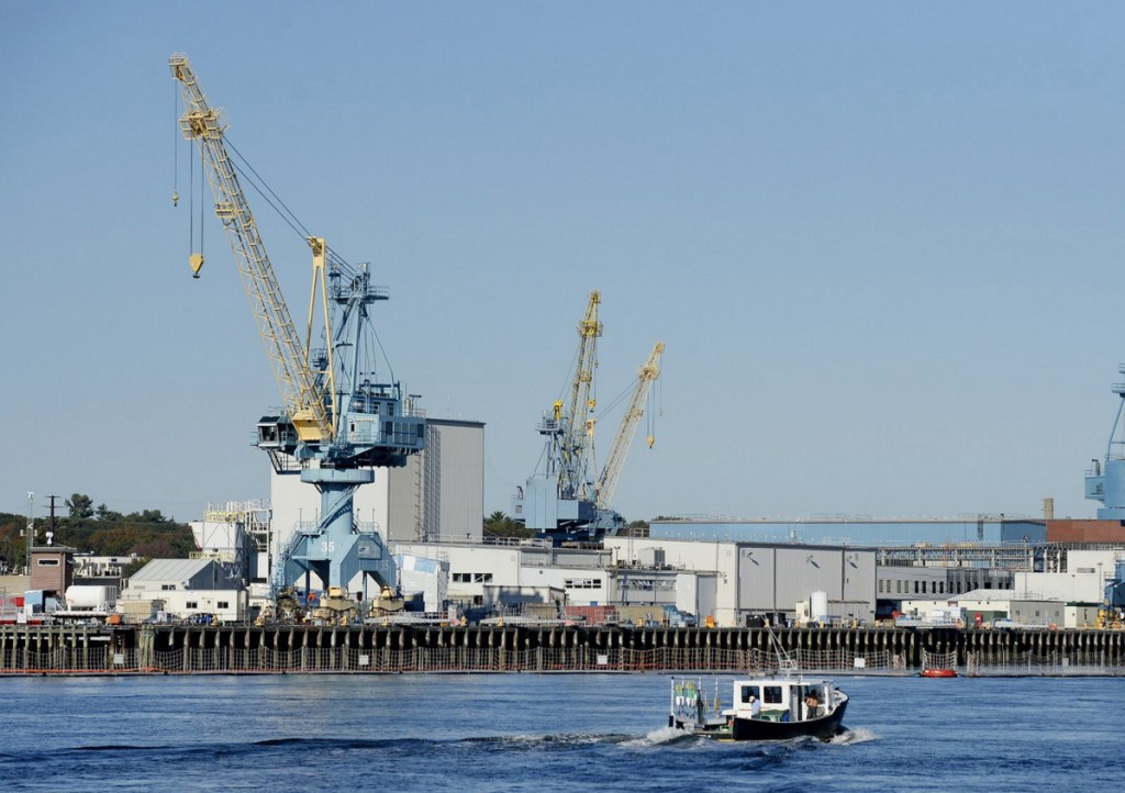 Hiring at Portsmouth Naval Shipyard is partly responsible for Maine's 3.4 percent unemployment rate in March.
