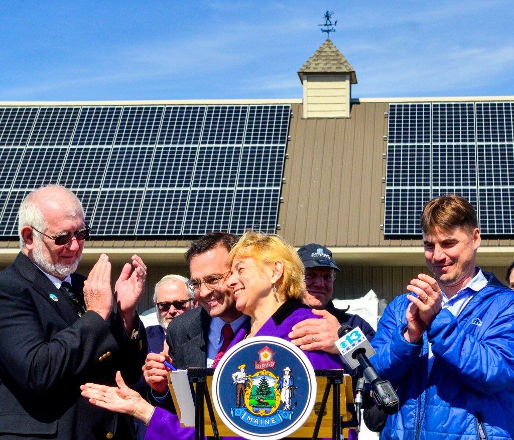In April, Gov. Mills celebrated a legislative change that enhances solar power use. On Wednesday, signed three bills aimed at ushering in renewable energy.