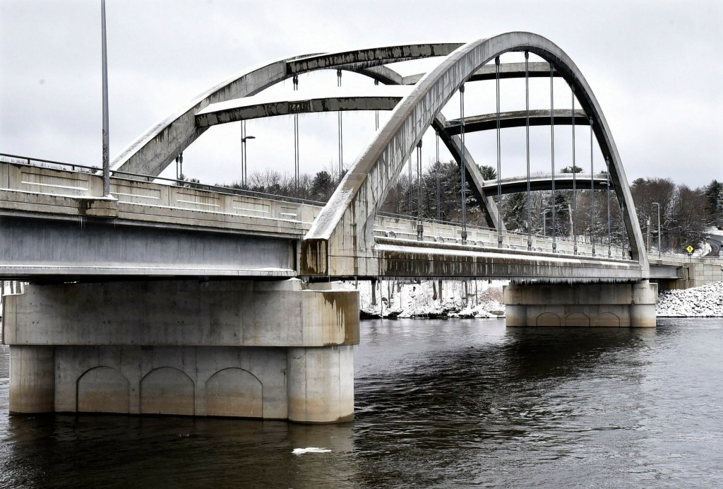 The Cpl. Eugene Cole Memorial Bridge in Norridgewock is seen Tuesday. In a social media contest by the Maine Department of Transportation, the bridge has been named Maine's favorite.