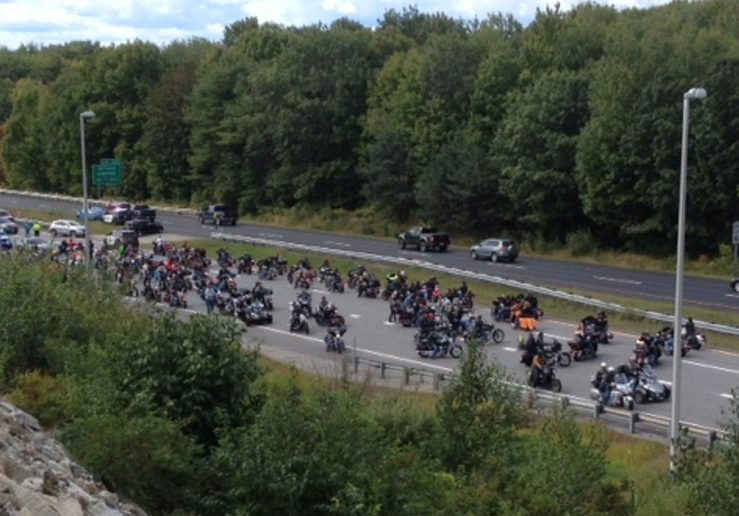 Thousands of motorcyclists participated in the United Bikers of Maine Toy Run, during which an accident killed one rider on Interstate 95 in Augusta and injured another fatally, on Sept. 14, 2017.