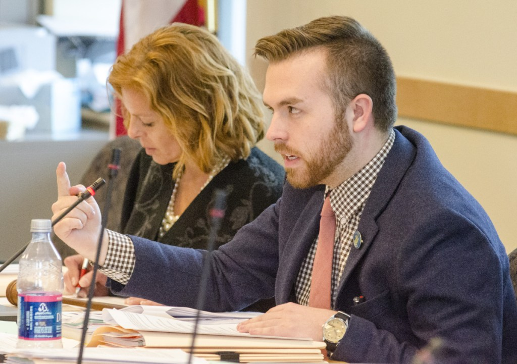 Rep. Ryan Fecteau, D-Biddeford, photographed at a hearing last year, sponsored an affordable housing bill that Gov. Janet Mills signed into law  Feb. 12.